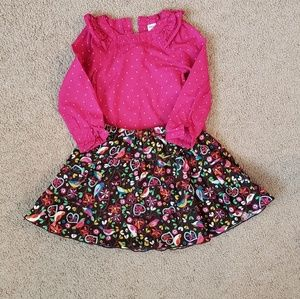 Girls 3t top and skirt
